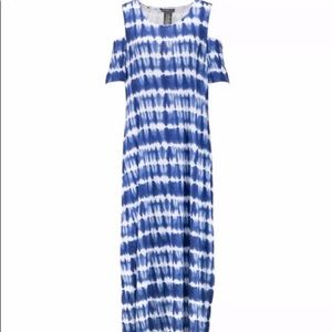 Design History Hudson Navy Tie-Dye Maxi Dress